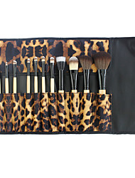 YZIMENG® 7pcs Leopard Makeup Brushes Set Blush/Eyeshadow/Lip/Eyebrow/Concealer/Powder Travel Portable Synthetic Hair Make Up for Face