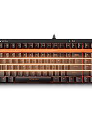 Gaming-Tastatur mechanische Tastatur Rapoo v500s Hintergrundbeleuchtung schwarz Welle programmierbare 92keys kein Konflikt