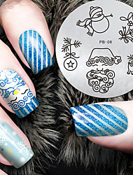 cheap -2016 Latest Version Fashion Christmas Pattern Nail Art Stamping Image Template Plates