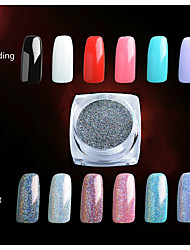 cheap -2G/PCS  Nail Art Decoration Very Delicate Laser Powder 7 Colour Highlights Security Environmental Protection