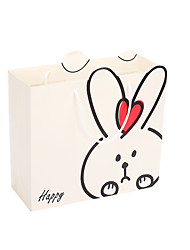 baratos -nota de cinco embalado para venda tamanho coelho branco 30 * 27 * 12 das crianças saco de presente de aniversário dom sacos portátil