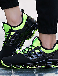 Uniseks Sneakers Udobne cipele PU Proljeće Jesen Kauzalni Udobne cipele Vezanje Ravna potpetica Crn Crvena Zelen Ravne