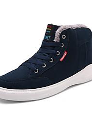 Недорогие -Для мужчин обувь Замша Зима Удобная обувь Кеды Для фитнеса Кружева для Повседневные Черный Темно-синий Зеленый