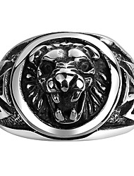 cheap -Men's Ring - Lion, Animal European 8 / 9 / 10 Black For Christmas Gifts / Wedding / Party