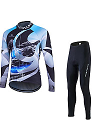 cheap -Fastcute Cycling Jersey with Tights Men's Long Sleeves Bike Clothing Suits Quick Dry Ultraviolet Resistant Breathable 3D Pad Reflective