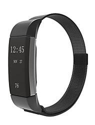 abordables -Negro / Rose / Dorado / Plata Acero Inoxidable Correa Milanesa Para Fitbit Reloj 10mm