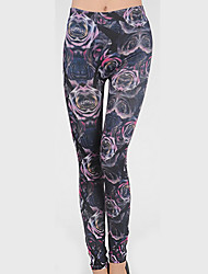 Women's Floral Gray Slim PantsSexy Fall