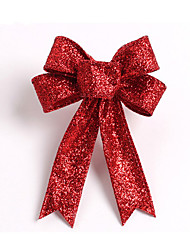 cheap -Sparkling Glitter Christmas Tree Bow Decoration 13Cm Cloth 5 Ears Orament Flowers Bow Knots For Home Party Wedding Decoration
