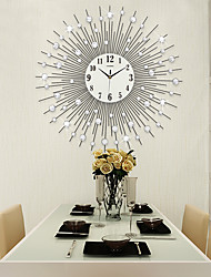 cheap -Modern / Contemporary Acrylic / Glass / Metal Indoor,AA Wall Clock