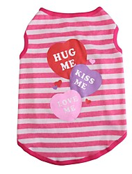 Chat Chien Costume Tee-shirt Gilet Vêtements pour Chien Hiver Eté Printemps/Automne RayureMignon Mariage Anniversaire Vacances Mode