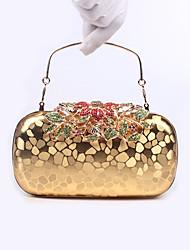 Damen Taschen Ganzjährig PU Poly Urethan Abendtasche Crystal / Strass für Hochzeit Veranstaltung / Fest Formal Schwarz Silber Rot Golden