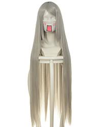 abordables -Pelucas sintéticas / Pelucas de Broma Recto Pelo sintético Gris Peluca Mujer Larga / Muy largo Sin Tapa