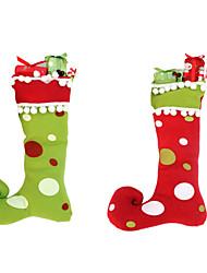 Недорогие -1шт новый год высокое качество веселые рождественские подарки высокой степени интеграции сапоги украшения рождественские чулки
