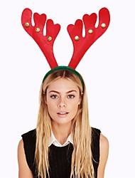 Red Christmas Bell Head Buckle Hair Hoop Xmas Decorations Reindeer Antlers Headband Hairbands Prop Fancy Dress Head