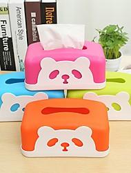 Недорогие -ткани коробки мультфильма прекрасный обеденный стол релиз лоток (случайные цвета)