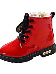 お買い得  -女の子 靴 PUレザー 冬 コンフォートシューズ / スノーブーツ ブーツ ウォーキング 編み上げ のために イエロー / レッド / ブルー