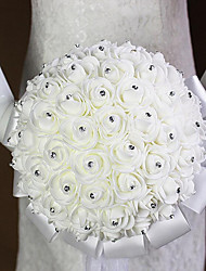 cheap -The Bride Wedding Bouquet White Flowers bBouquets Of Roses Bubble Simulation