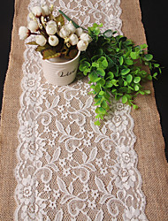 economico -Rettangolare Ricamato Copritavola , Lino/Raion Materiale Wedding Party Decoration Matrimoni