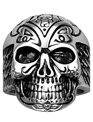 cheap -Men's Band Ring - Skull Bohemian, European, Fashion 8 / 9 / 10 Black For Wedding / Party / Halloween