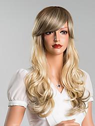 attraente colorato onda lunga del corpo senza cappuccio parrucche dei capelli umani di alta qualità 24 pollici