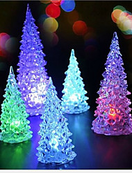cheap -2PCS Christmas Christmas Tree Christmas Mini Led Light Colorful Nightlight(Random color)