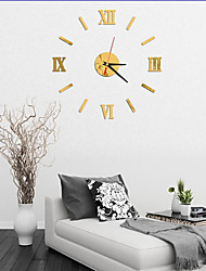 cheap -New Arrival 2016 Direct Selling Mirror Sun Acrylic Wall Clocks 3D Home Decor DIY Crystal Quartz Clock Art Watch