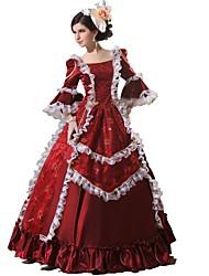 Victorien Rococo Femme Une Pièce/Robes Cosplay Dentelle Coton Longueur Sol
