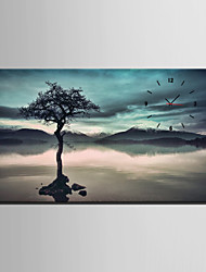 E-HOME® Tree in Water Clock in Canvas 1pcs