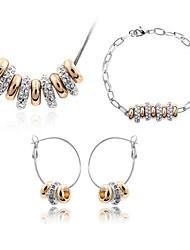 Da donna Set di gioielli Cristallo Di tendenza bigiotteria Collane Orecchini Bracciale Per Quotidiano Regali di nozze
