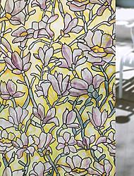 abordables -Floral Contemporáneo Película para Ventana,PVC/Vinilo Material decoración de la ventana