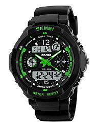 cheap -SKMEI® Men's Watch Sport Watch Japanese Quartz Analog-Digital Watch Dual Time Zones Chronograph Calendar LCD Cool Watch Unique Watch Fashion Watch