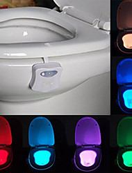 abordables -youoklight 1pc amour toilettes lumière changeant de couleur aa piles alimenté contrôle de la lumière de changement de couleur <5V LED Light>