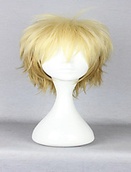 Popular America Style 30cm Short Curly Light Yellow  Cosplay Wigs  Anime Noragami Yukine Costume Wig