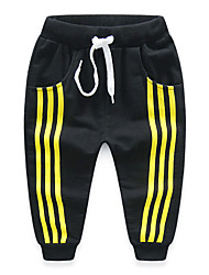 cheap -Boy's Cotton Fashion Simple Style Spring/Fall Casual/Daily Solid Colored Casual Stripes Sports Long Pants