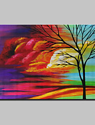 Hand Painted Tree Landscape Oil Painting On Canvas Modern Abstract Wall Art Pictures For Home Decoration Ready To Hang