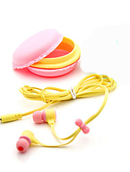 cheap -3.5mm Top Quality Birthday Gift Macaron Earphone Headphones Headset