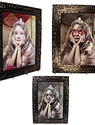 Недорогие -1шт Халоуин декора новизны подарка излучающей террористом цвет девушки большой волшебной фоторамки