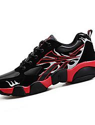 Muške Sneakers Udobne cipele PU Proljeće Jesen Kauzalni Udobne cipele Vezanje Ravna potpetica Crn Bijela Crvena Zelen Plava Ravne
