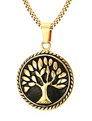 cheap -Men's Stainless Steel Gold Plated Pendant Necklace  -  Fashion Golden Necklace For Party Daily Casual