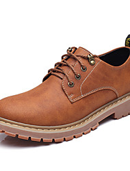 Men's Shoes Cowhide Spring Fall Comfort Oxfords For Casual Gray Light Brown Dark Brown