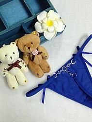 Для женщин Однотонный Сексуальные платья Ультра-соблазнительные трусики Брифы,Акрил