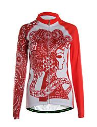 TVSSS Camisa para Ciclismo Mulheres Manga Longa Moto Camisa/Roupas Para Esporte Blusas Térmico/Quente Zíper Frontal Respirável Bolso