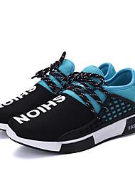 Masculino-Tênis-Conforto-Rasteiro-Preto Azul Vermelho-Tecido-Casual