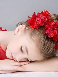 Недорогие -Плетеные изделия Резина Стразы Сеть Диадемы Ободки Цветы Венки Цепочка на голову Заколки для волос Заставка