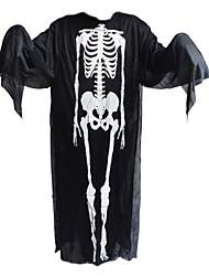 1pc Halloween ropa y guantes de fantasmas y gritar máscara de esqueleto