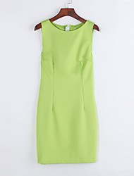 cheap -Women's Street chic Bodycon Dress - Solid Colored