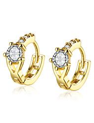 lureme Fine Jewelry 18K Gold Fashion Charms Flower Zircon Diamond Earrings