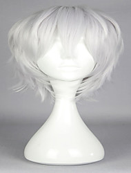 cheap -High Quality 30cm Short Grey Hot Japanese Game ToukenRanbu Nakigitune Fashion Men's Anime Cosplay Full Wig