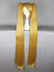 cheap -Vocaloid Akita Neru Famous Animation  Long Straight Synthetic Braided Blonde Cosplay Wigs