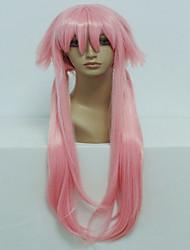 cheap -anime the future diary gasai yuno 80cm long straight light pink cosplay wig halloween costume wig